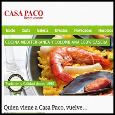 Smartweb - Casa Paco Restaurante
